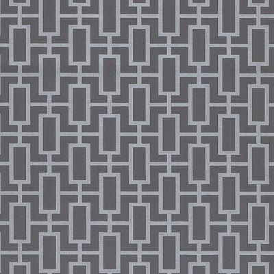 Contemporary Gray Silver Geometric Wallpaper TU27088 - Sold by the Yard