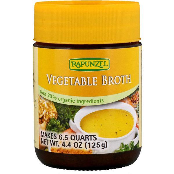 Rapunzel Vegetable Broth 4 4 Oz 125 G Discontinued Item Organic Ingredients Organic Vegetables Vegetables
