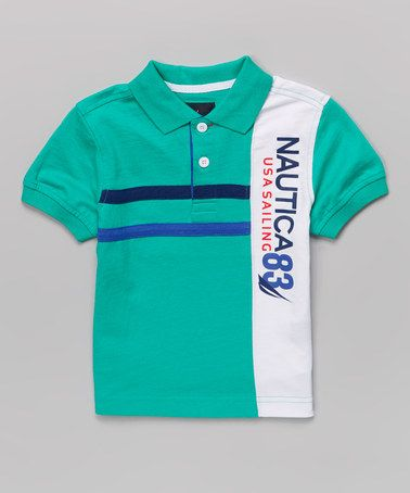 Love this Jade & White 'Nautica 83' Polo - Infant, Toddler & Boys by Nautica on #zulily! #zulilyfinds