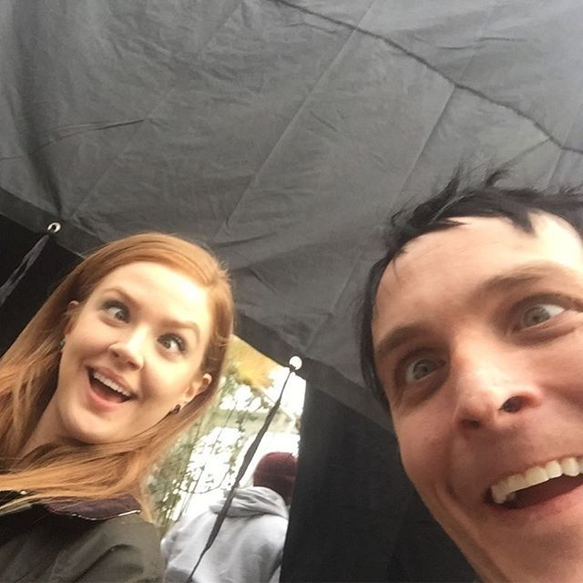 New #Gotham tonight! These two MAY have enjoyed working together on this episode. @maggiegeha robinlordtaylor