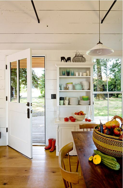 Home of designer Jessica Helgerson - photos by Lincoln Barbou: Interior Design, Ideas, The Doors, Tinyhouse, Contemporary Kitchens, Tiny Houses, Interiors Design, Farmhouse Kitchens, Country Kitchens
