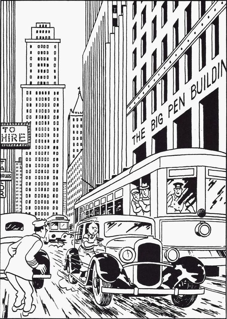 Free Coloring Page Coloring Tintin In America Drawing