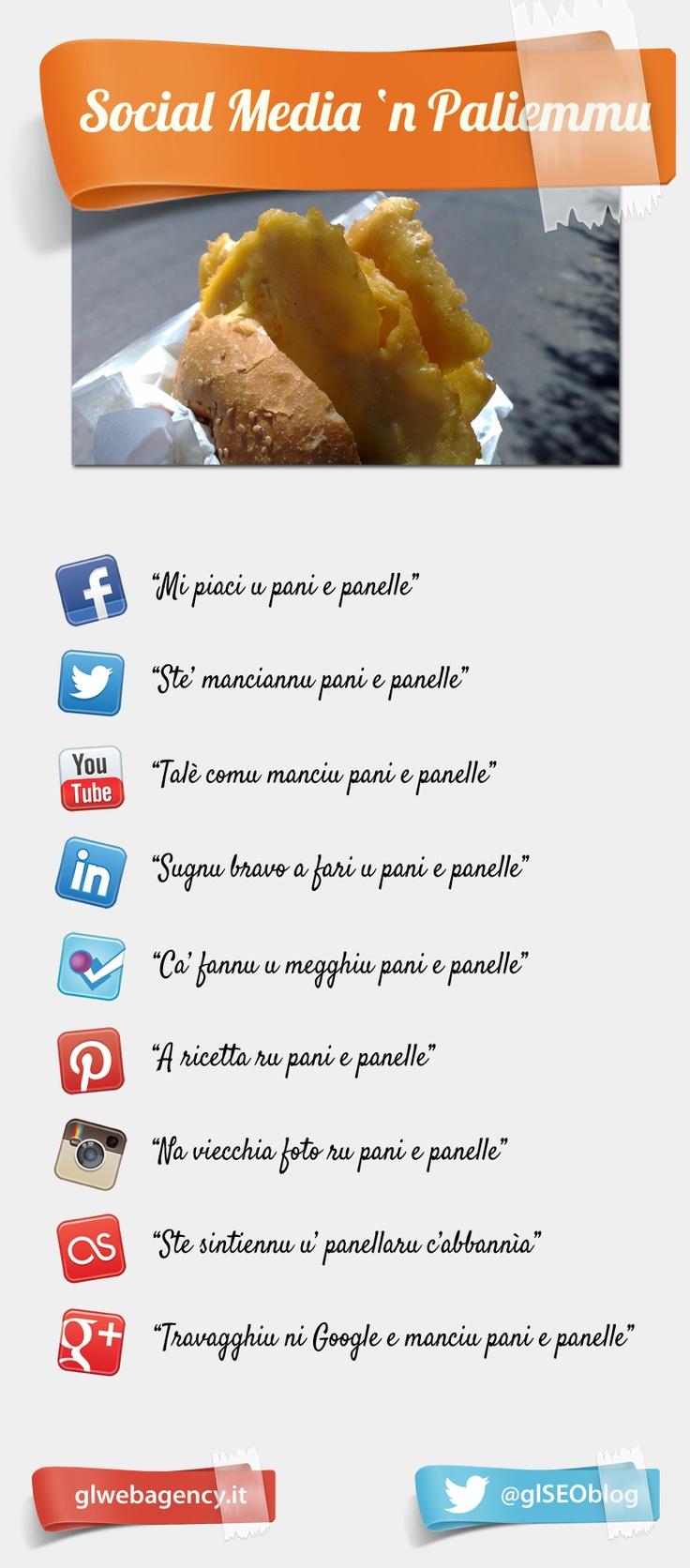 "Social Media 'n Paliemmu: i social network spiegati ""cu pani e panelle""!"