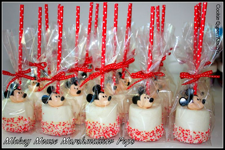 Mickey Mouse Marshmallow Pops With Kiddie Rings By Cookie