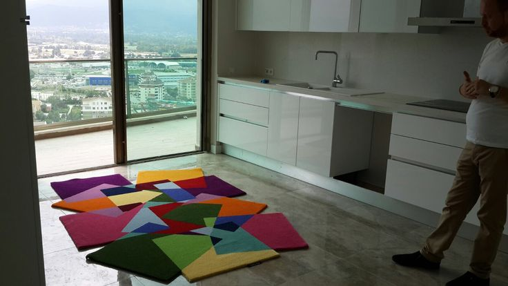 Rengarenk mutfak halısı