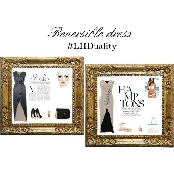 """1 Dress = 2 Sides""   featuring Victoria's Secret, Jimmy Choo, Chloe©, Marni, Yves Saint Laurent, Essie and Victoria Beckham"