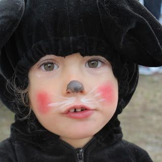 face paint for little mouse costume