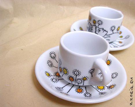 Роспись кофейных кружек