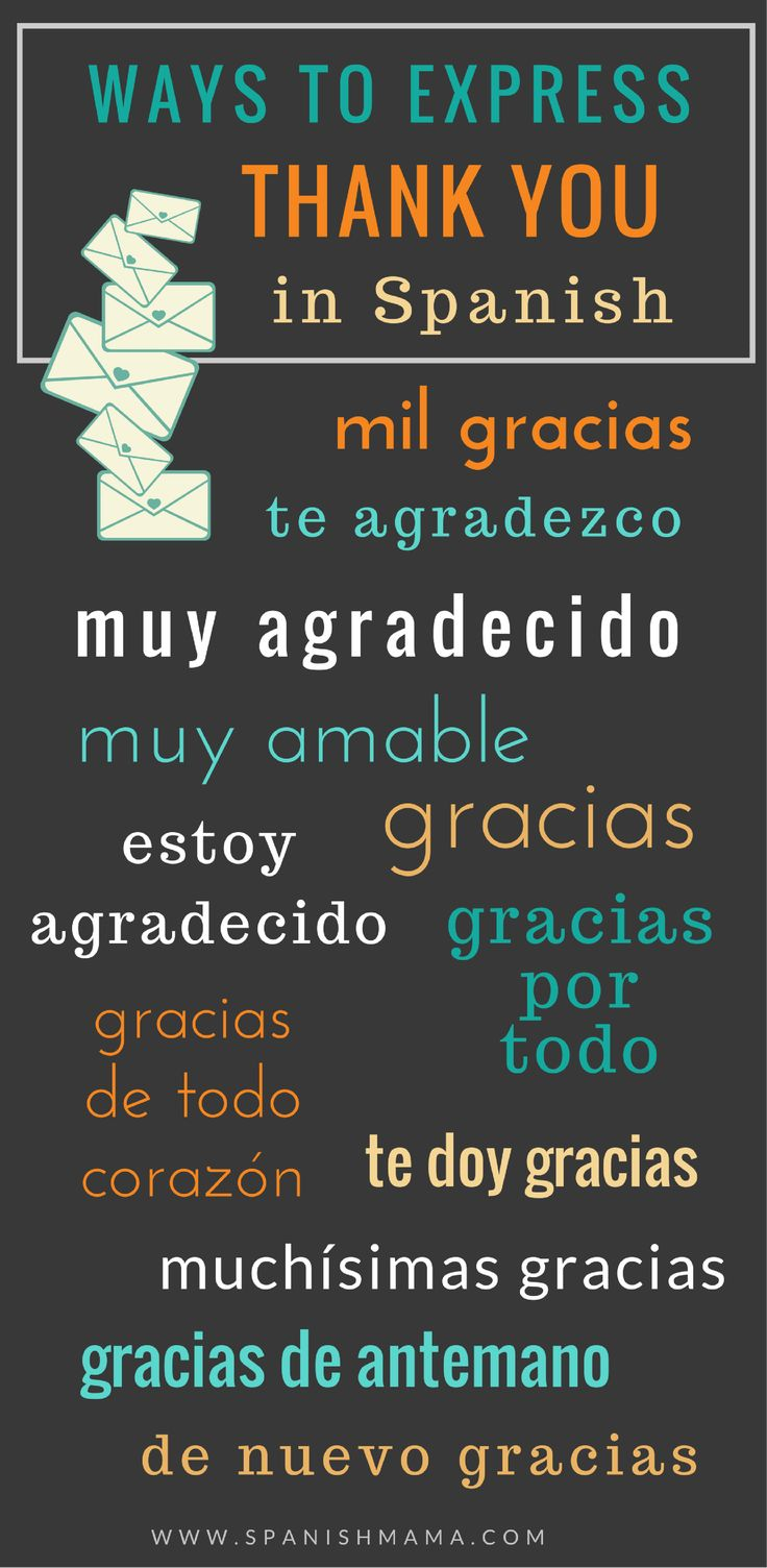 How to say thank you in Spanish: different ways to express gratitude.