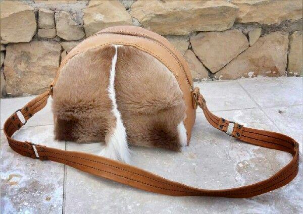 Springbuck and leather handmade handbag - Ray's Leather. raysleatherwork@gmail.com