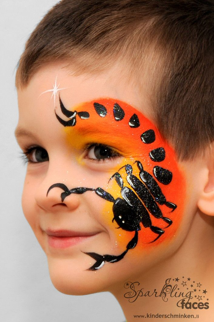 Halloween Spider Face Paintings