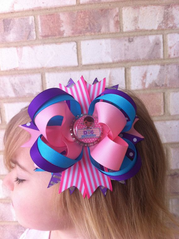 Doc McStuffins Bow by TutusNBows4u on Etsy, $7.50