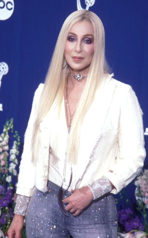 Who said super blonde hair is only for young women? At 54, Cher showed off her bleached locks at the 52nd Emmy Awards and looked amazing.