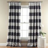 """Lush Decor Stripe Blackout Window Curtain (Pair) - Grey 52Wx84L"""" $38/pair : Stripe blackout window panels keeps the room dark by blocking sunlight. Because of the blackout feature, these curtains are energy efficient adding to better temperature regulation of the room."""