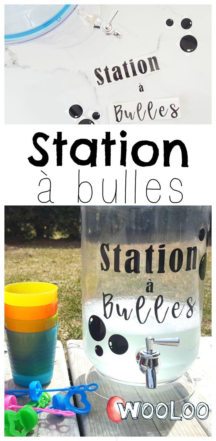 J'ai mis en place une station à bulles libre-service pour amuser tout le quartier ✨ #bulles #activités #extérieur #enfants #jouer #stationàbulles