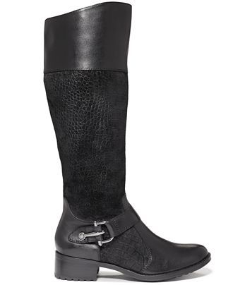 Circa by Joan & David Takara Wide Calf Riding Boots - Wide Calf Boots -  Shoes - Macy's