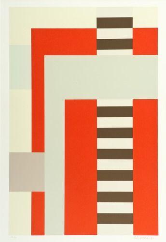 Juhana Blomstedt 1937-2010 (Finland) COMPOSITION. (d) Sign. -91. Serigraph, E.A, 5/15, 55 x 35,5 cm.