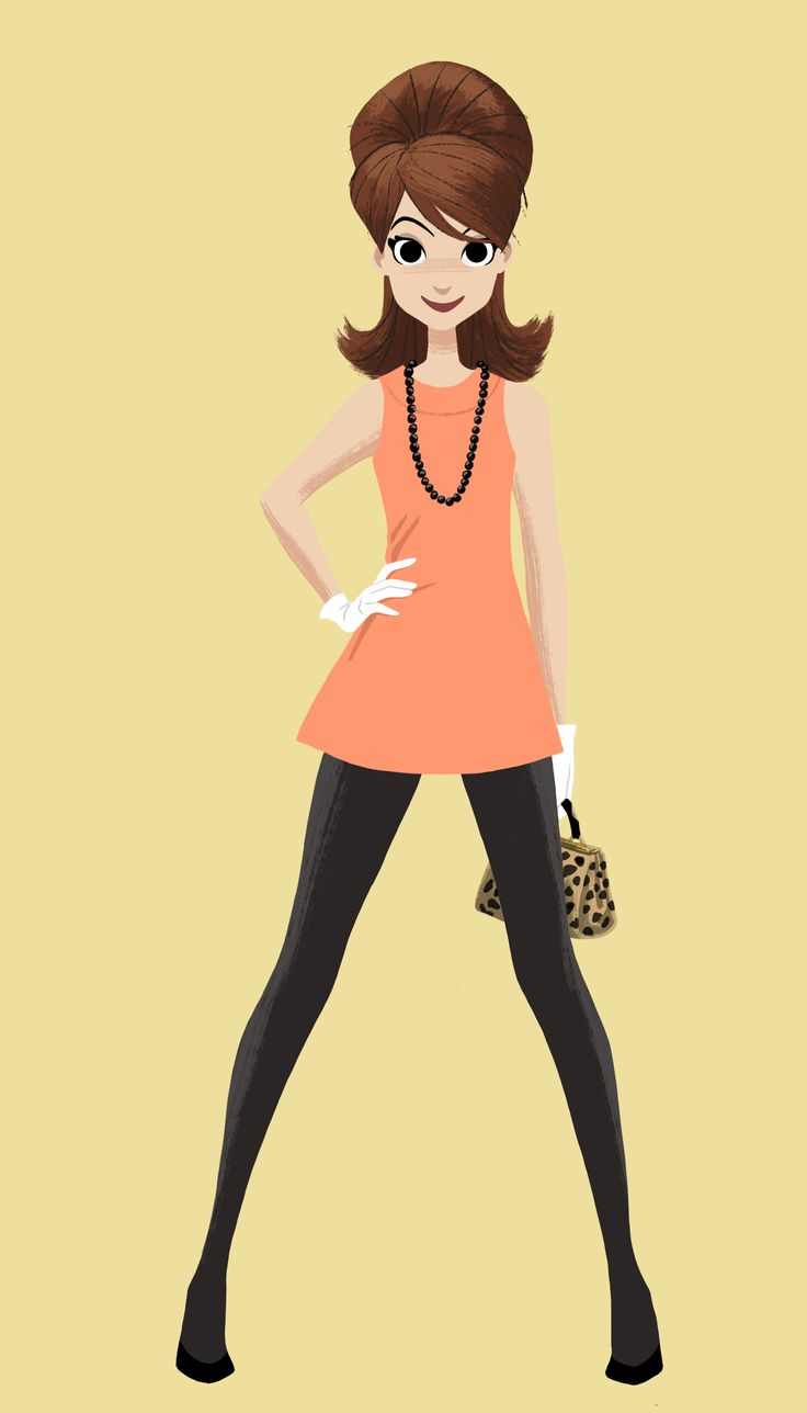 "60's fashion a la Yvonne Craig (better known as ""Bat girl"" & Marlo Thomas (better known as 'That Girl')."