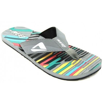 Reef HT Prints Grey Multi at Flopestore Malaysia, www.flopstore.my