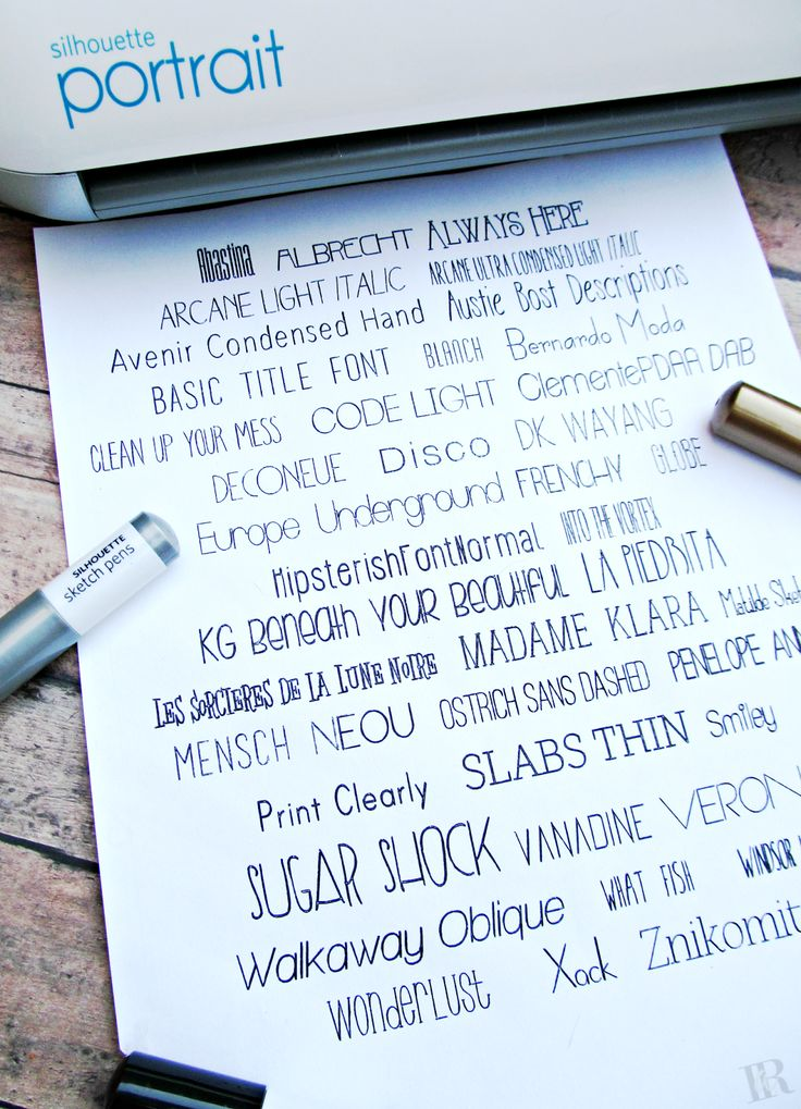 The Best FREE Printed Fonts for Silhouette Sketch Pens that look like a single line! | It's Always Ruetten