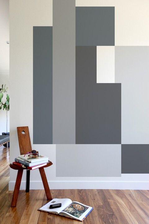 Blik Wall Decals: Color Block Parallel #bafco #bafcointeriors Visit www.bafco.com for more interior inspirations.