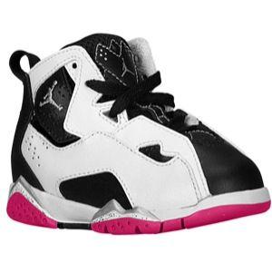 Love, love, LOVE these shoes for my Baby Girl  **Jordan True Flight - Girls' Toddler - White/Metallic Silver/Black/Vivid Pink