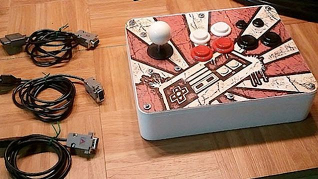 Arcade sticks are a great way to play games, but swapping out different sticks for systems is a pain. To solve this problem, DIYer Dave Nunez made a single arcade stick that works on NES, SNES, and an Atari 2600.
