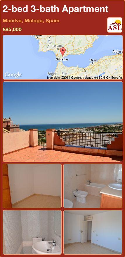 2-bed 3-bath Apartment in Manilva, Malaga, Spain ►€85,000 #PropertyForSaleInSpain