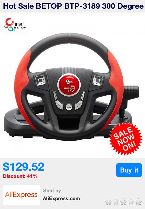 Hot Sale BETOP BTP-3189 300 Degree Shock Computer Driving Game Racing Wheel with Pedals Shift For PS3 For PC * Pub Date: 07:54 Sep 12 2017