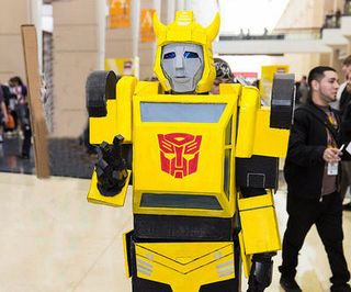how to make a paper transformer bumblebee