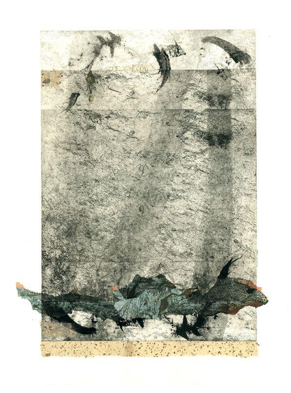 Jurgita Gerlikaite. Water. 2004. Photopolymer gravure, collage.