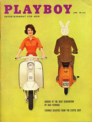Lambretta TV175 on the cover of Playboy, June 1959