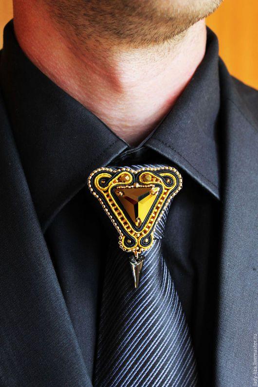 Украшения для мужчин, ручной работы. Ярмарка Мастеров - ручная работа. Купить Брошь на галстук Артур, подарок мужчине, для мужчин, мужские украшения. Handmade.