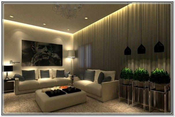Living Room With Low Ceiling