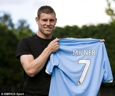 James Milner joins Manchester City, transferring from Aston Villa.