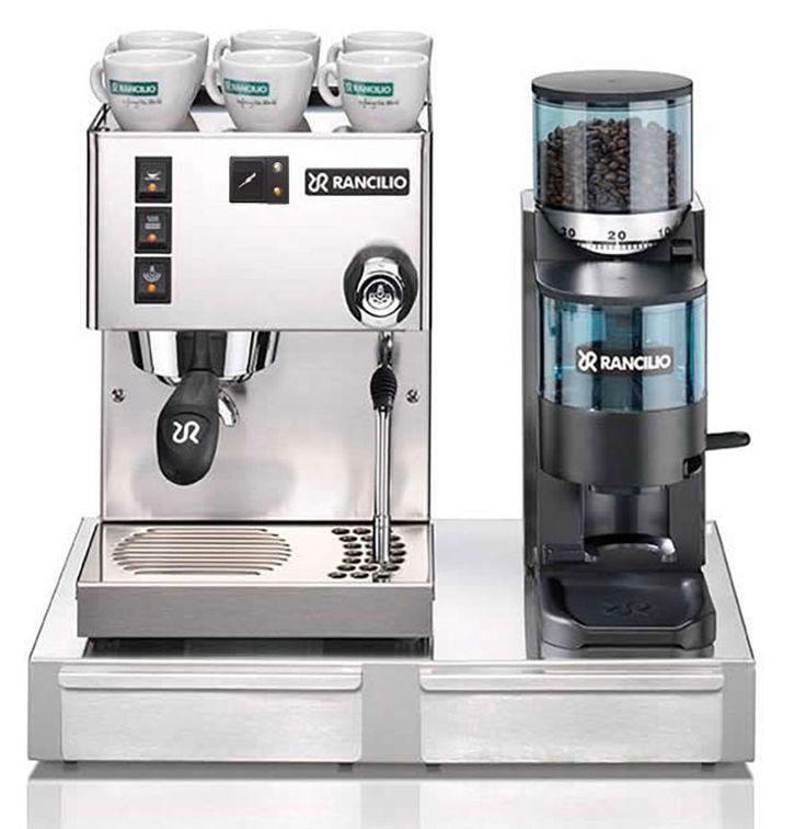 Rancilio Silvia Espresso Machine and Rocky Grinder