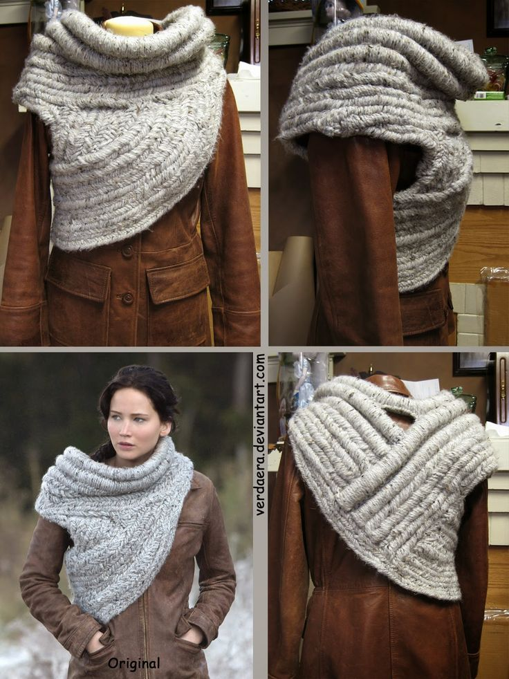 The most accurate remake of the cowl- So I finished making a weird thing; Katniss' cowl finished