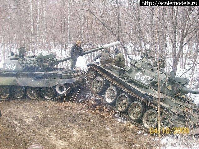 Russian T-55MV helping the T-55A.