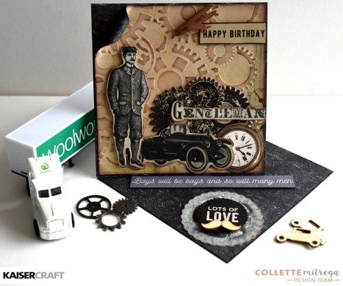 'Happy Birthday' Card by Collette Mitrega Design Team Kaisercraft using 'Barber…