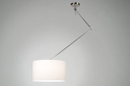 Draaibare extra lange verstelbare hanglamp XXL in staal. Moderne lamp voor aan het plafond wordt geleverd met een luxe afgewerkte, strakke witte stoffen kap in linnen.  Belangrijk voor een mooie vormgeving van deze lamp is de juiste verhouding tussen de lengte van de 2 armen. Dit is bij onze lamp optimaal.  De extra lange stang is in hoogte verstelbaar. In de kleur taupe , grijs , zwart , bruin stof . Voor eettafel , salontafel . click on this link www.rietveldlicht.nl Verzendkosten gratis .