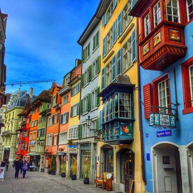 #Zurich #Augustinergasse, one of Zürich's most beautiful historical narrow street.