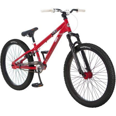 24 inch Mongoose Intake Boys' Dirt Jump Bike, Red