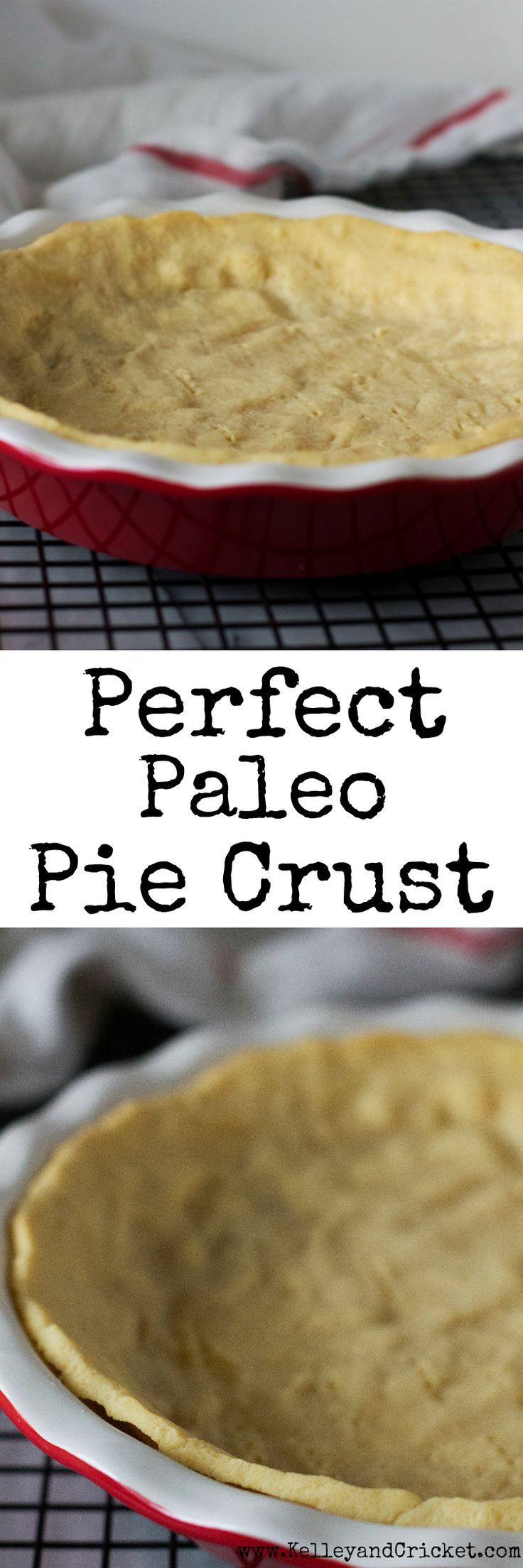 This flaky and buttery pie crust is the perfect compliment to your favorite pie. If you love traditional pie crust, this healthy and grain free version will surely satisfy you because it is just like the real deal! Best of all its super easy to make with only a handful of simple healthy ingredients! (Gluten free, grain free, paleo)