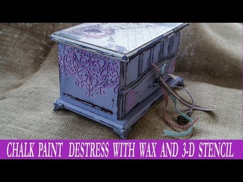 Decoupage Tutorial With Chalk Paint and Destress With Wax - Diy Step by Step - YouTube