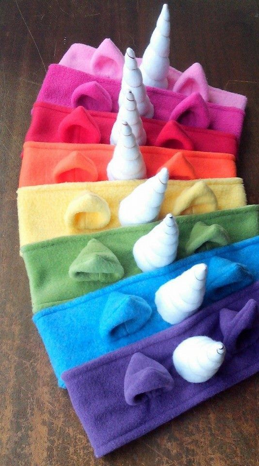 Made to order just for you! Fun unicorn styled fleece headband with matching fleece ears and white fleece horn. The 3 wide band is made of two