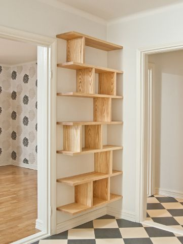 I love this idea for adding storage to an essentially unusable space. A useful addition to so many spaces.