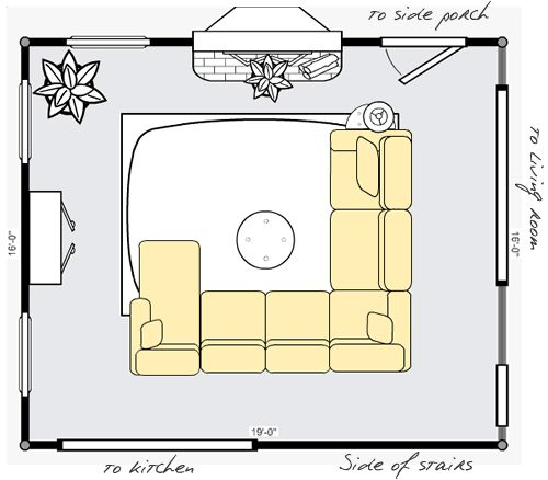 17 best images about small living room layout on pinterest living room layouts stone - Small space furniture toronto plan ...