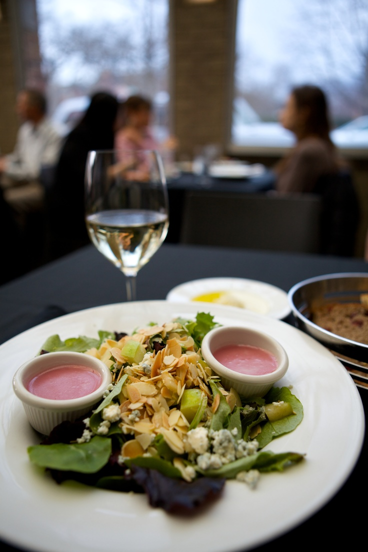 Sunset Grill's Sonoma salad is filled with field greens, Granny Smith apples, roasted almonds, and Danish blue cheese