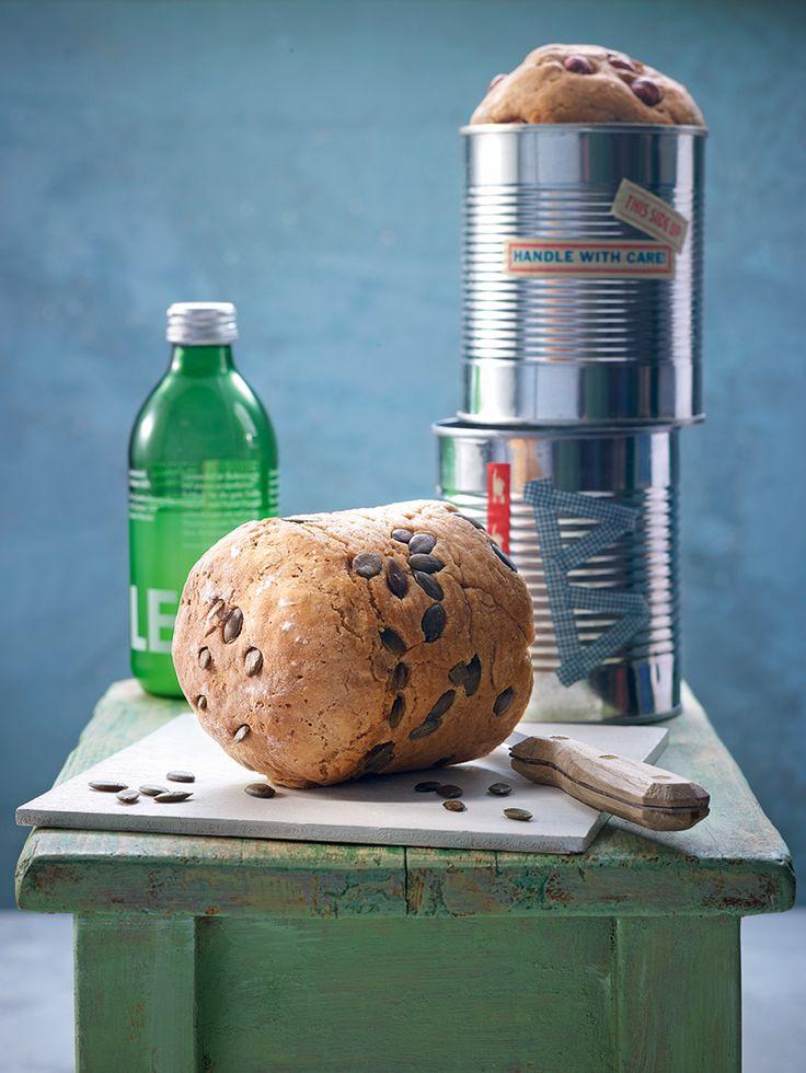 Dosenbrot-Duo - Ein Brot mit Kürbiskernen, ein Brot mit Haselnüssen