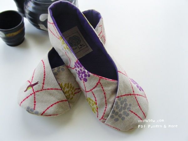 Aren't these cute?   kimono shoes pattern